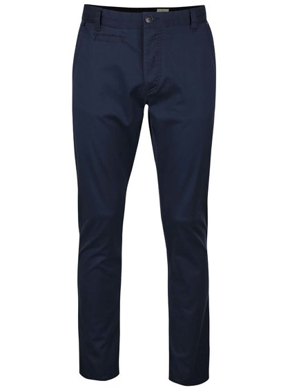 Tmavomodré chino nohavice Selected Homme Two Store