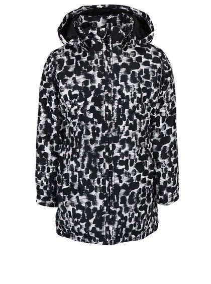 Čierno-biela vzorovaná dievčenská bunda Name it Mello