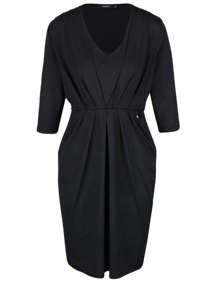 Čierne šaty s vreckami Alchymi Manara