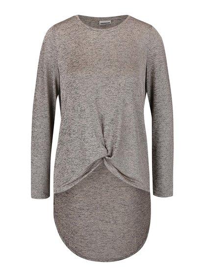 Sivo-béžové melírované tričko Noisy May Verona