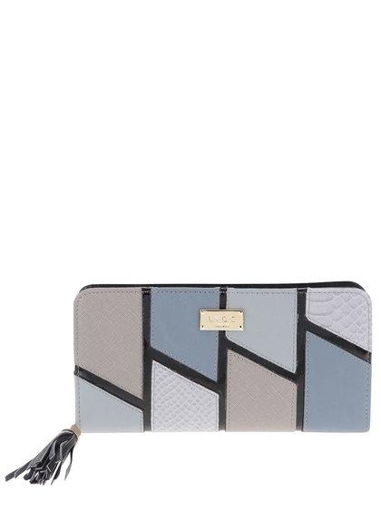 Šedo-modrá peněženka LYDC
