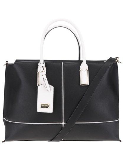 Bílo-černá velká kabelka LYDC