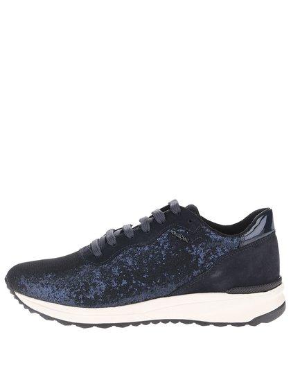 Pantofi sport bleumarin Geox Airell B cu paiete