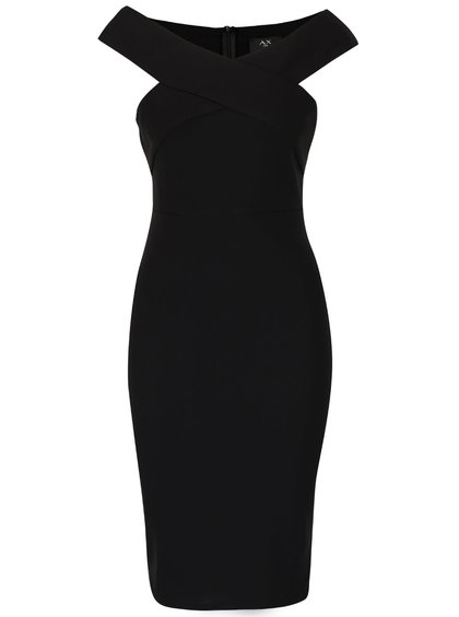 Čierne vykrojené šaty AX Paris