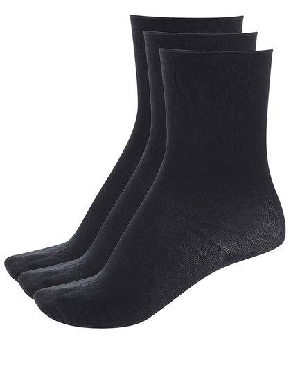 Súprava troch párov čiernych ponožiek Vero Moda Socks Basic