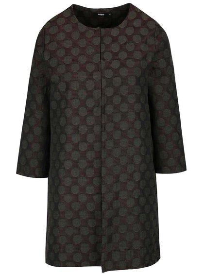 Khaki puntíkovaný lehký kabát s 3/4 rukávy Alchymi Tarumi