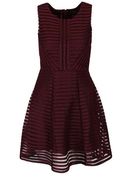 Vínové krajkové šaty AX Paris