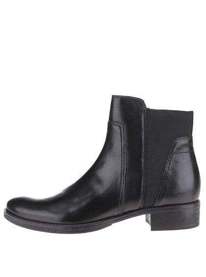 Čierne dámske členkové chelsea topánky Geox Mendi