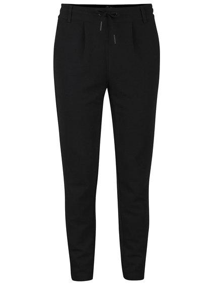 Čierne štruktúrované nohavice ONLY Poptrash