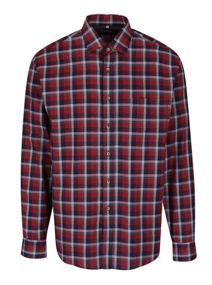 Vínová kockovaná pánska košeľa Seven Seas