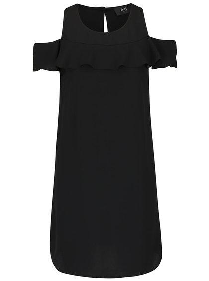 Černé šaty s volánem AX Paris
