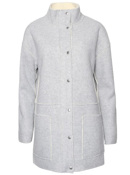 Sivý kabát ICHI Temoz