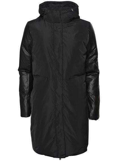 Čierna dlhá bunda ICHI Sakse