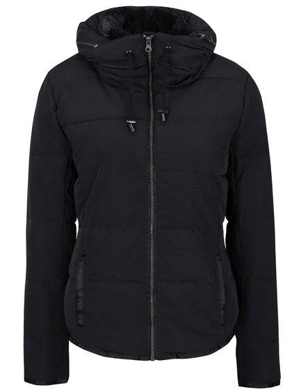 Čierna prešívaná bunda ICHI Snappi