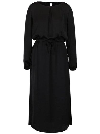 Rochie maxi neagră ICHI Collir
