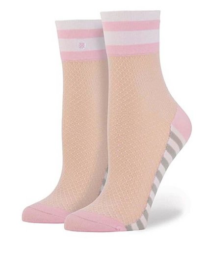 Ružové dámske sieťované ponožky Stance Jersey Mesh