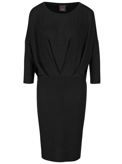 Čierne šaty s voľným topom ICHI Joanna
