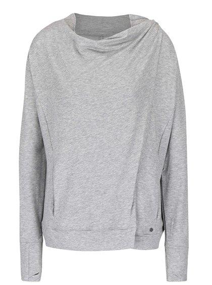Bluză sport gri Bench Undo cu model discret pentru femeie