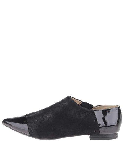 Pantofi negri Geox Rhosyn D cu piele naturală