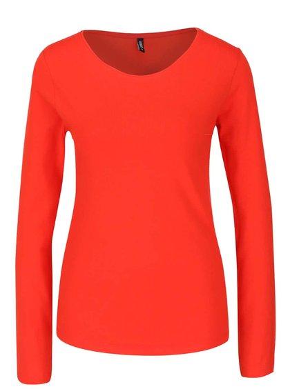 Červené tričko s dlouhým rukávem Haily's Tina