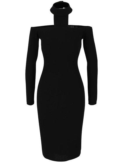 Černé atypické šaty s odhalenými rameny AX Paris