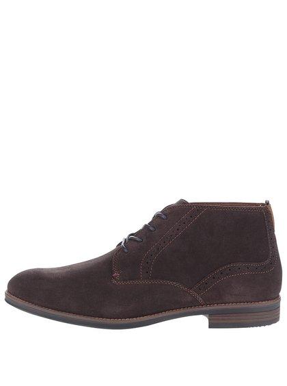 Hnědé pánské semišové kotníkové boty Tommy Hilfiger