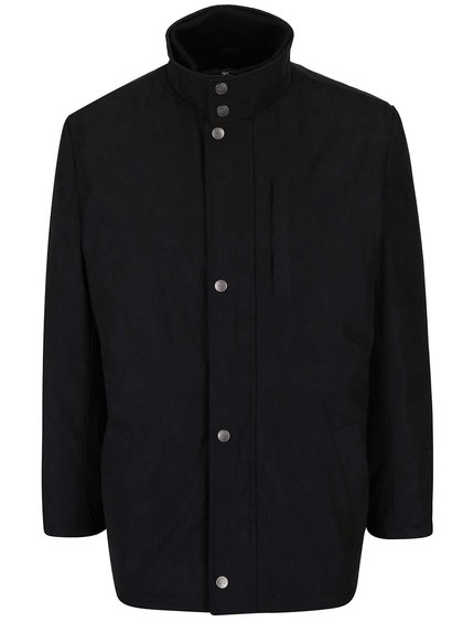 Čierna pánska bunda s gombíkmi Seven Seas