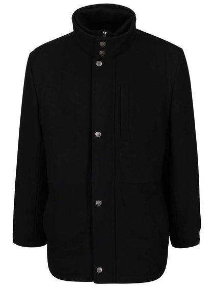 Černý pánský kabát Seven Seas