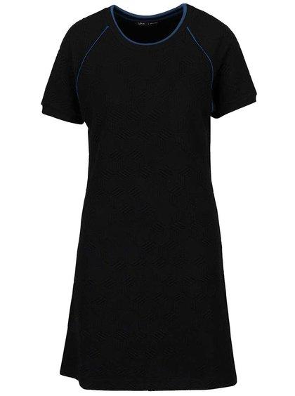 Čierne šaty s plastickým vzorom gsus