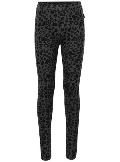 Sivé dievčenské legíny s leopardím vzorom Cars Jeans Glyn