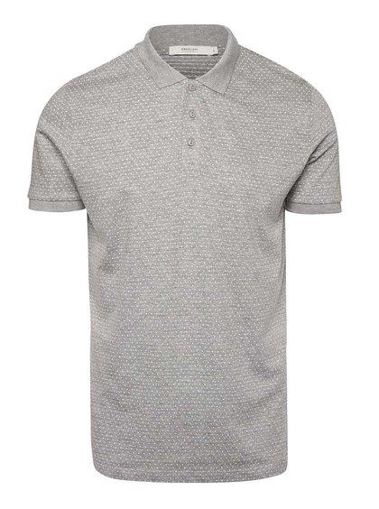 Světle šedé polo triko s jemným vzorem Jack & Jones Pointal