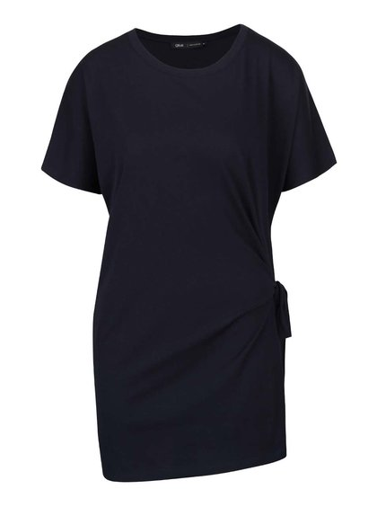 Tmavomodré voľnejšie tričko s viazaním na boku gsus
