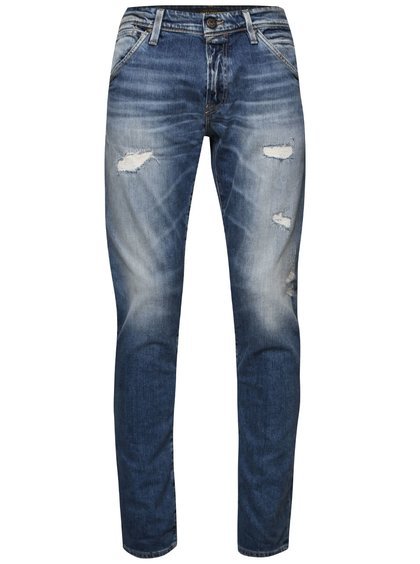 Modré džíny s potrhaným efektem Jack & Jones Glenn
