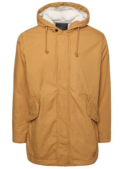 Hořčicový kabát s kapucí Jack & Jones Benson