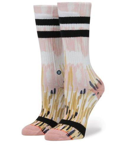 Růžové dámské vzorované ponožky Stance Pink Rain