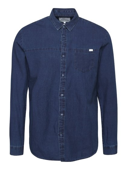 Cămașă bleumarin denim Jack & Jones Adam
