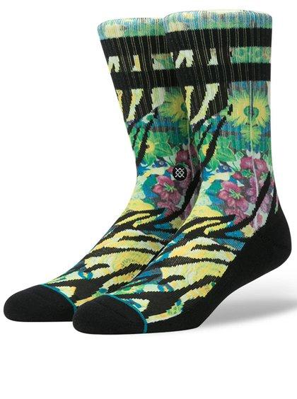 Zeleno-černé pánské vzorované ponožky Stance Tiger Lily