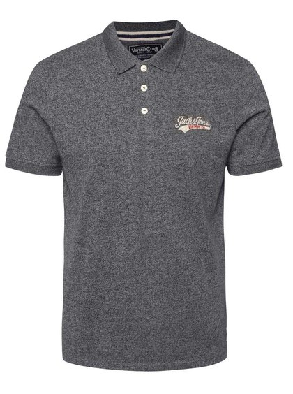 Tricou polo gri Jack & Jones Sport