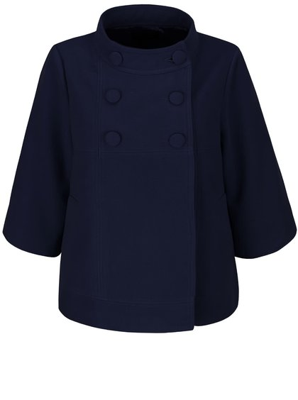 Tmavě modrý kabát se zkrácenými rukávy Fever London Salla