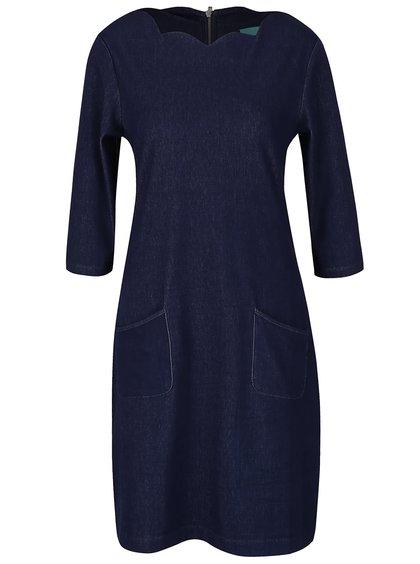 Tmavě modré šaty s kapsami Fever London San Diego
