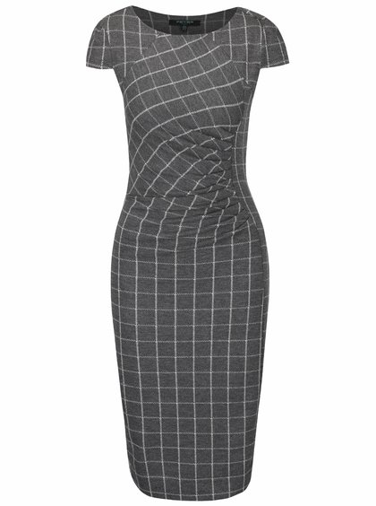 Rochie gri Fever London Highlands cu model geometric