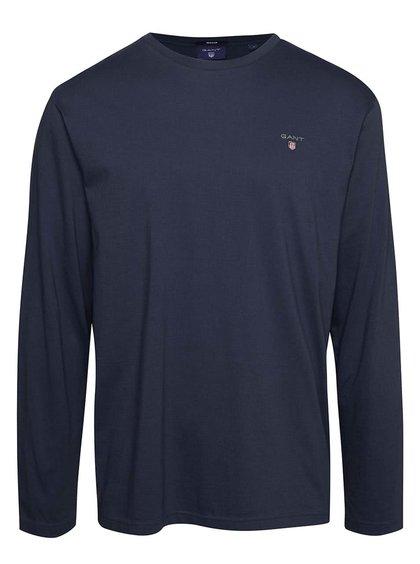 Tmavomodré pánske tričko s dlhým rukávom GANT