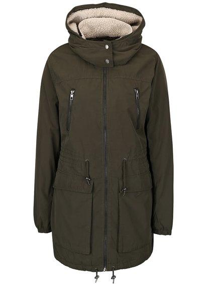 Khaki parka s kapucí ONLY Anna