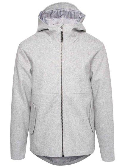 Sivá pánska bunda s kapucňou RVLT