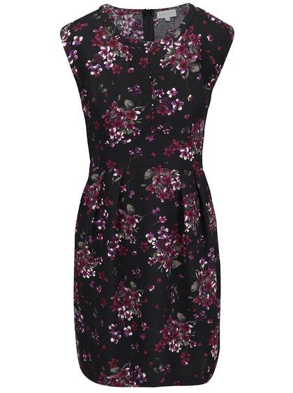 Čierne šaty s kvetinovým vzorom Apricot