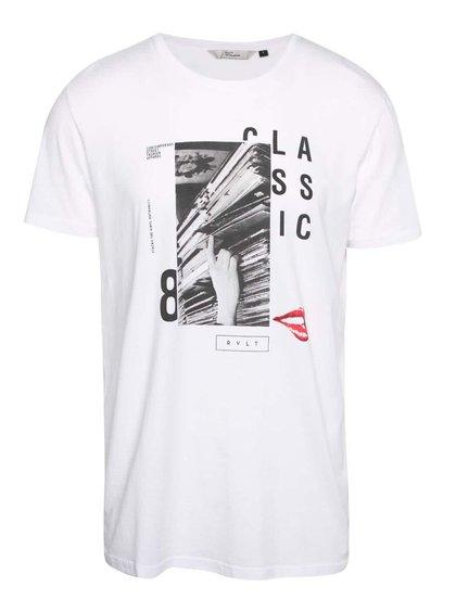 Bílé pánské triko s potiskem RVLT