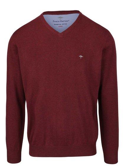 Vínový melírovaný sveter Fynch-Hatton