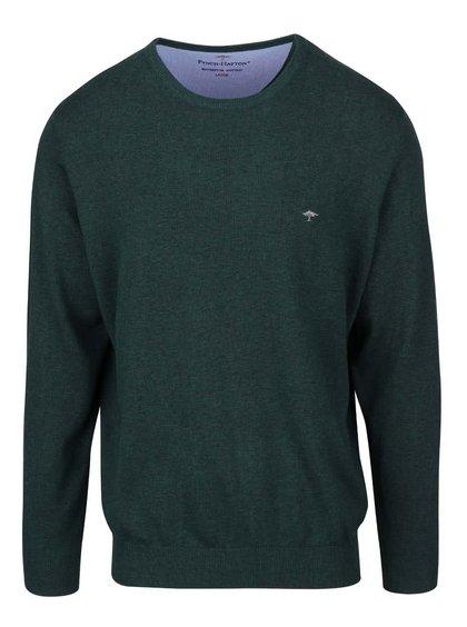 Bluză verde închis Fynch-Hatton din bumbac
