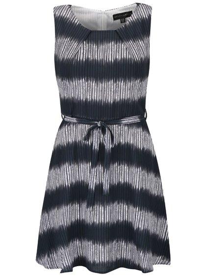Modrosivé pruhované šaty Mela London