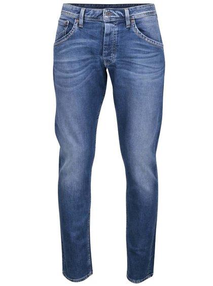 Modré pánské vyšisované regular džíny Pepe Jeans Kolt